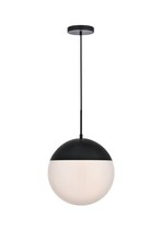 Living District 13 in 1-Light Pendant in Brass and Frosted White LD6042BR